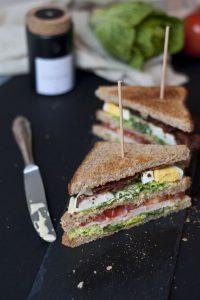 Clubsandwich met truffelmayonaise